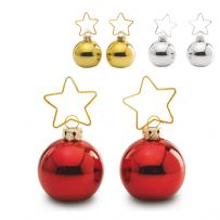 Pack of Two Christmas Bauble Place Card Holders